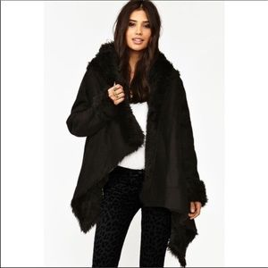 UNIF | Chelsea Shearling Oversized Cardigan Jacket
